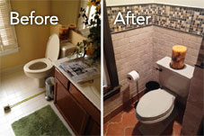 Before & After: Centreville Powder Room Renovation